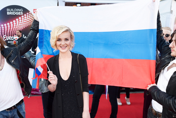 Полина Гагарина на красной дорожке конкурса «Евровидение 2015»