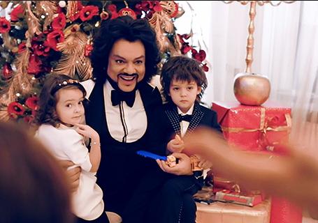 Филипп Киркоров с детьми: Аллой-Викторией и Мартином