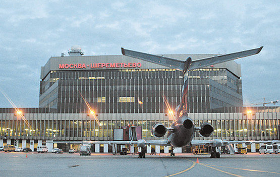 Дебош полуголого пассажира в аэропорту Шереметьево