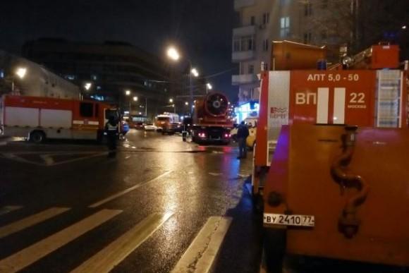 горит швейный цех в Москве