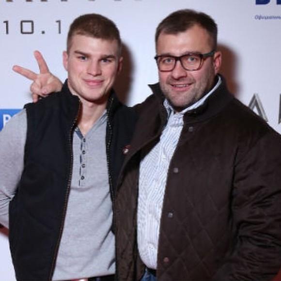 Михаил Пореченков с сыном