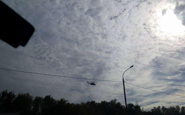 В Ленинградской области вертолёт упал  в Суходольское озеро