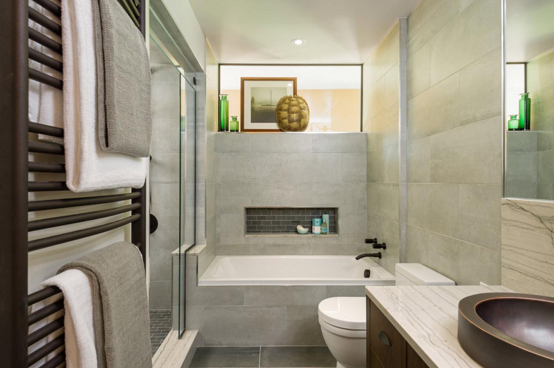 2 лучших стиля для оформления маленькой ванной комнаты